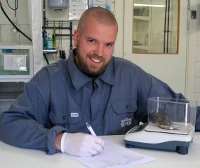 Kristofer Försäter, Norden's Arks lead herpetological keeper.