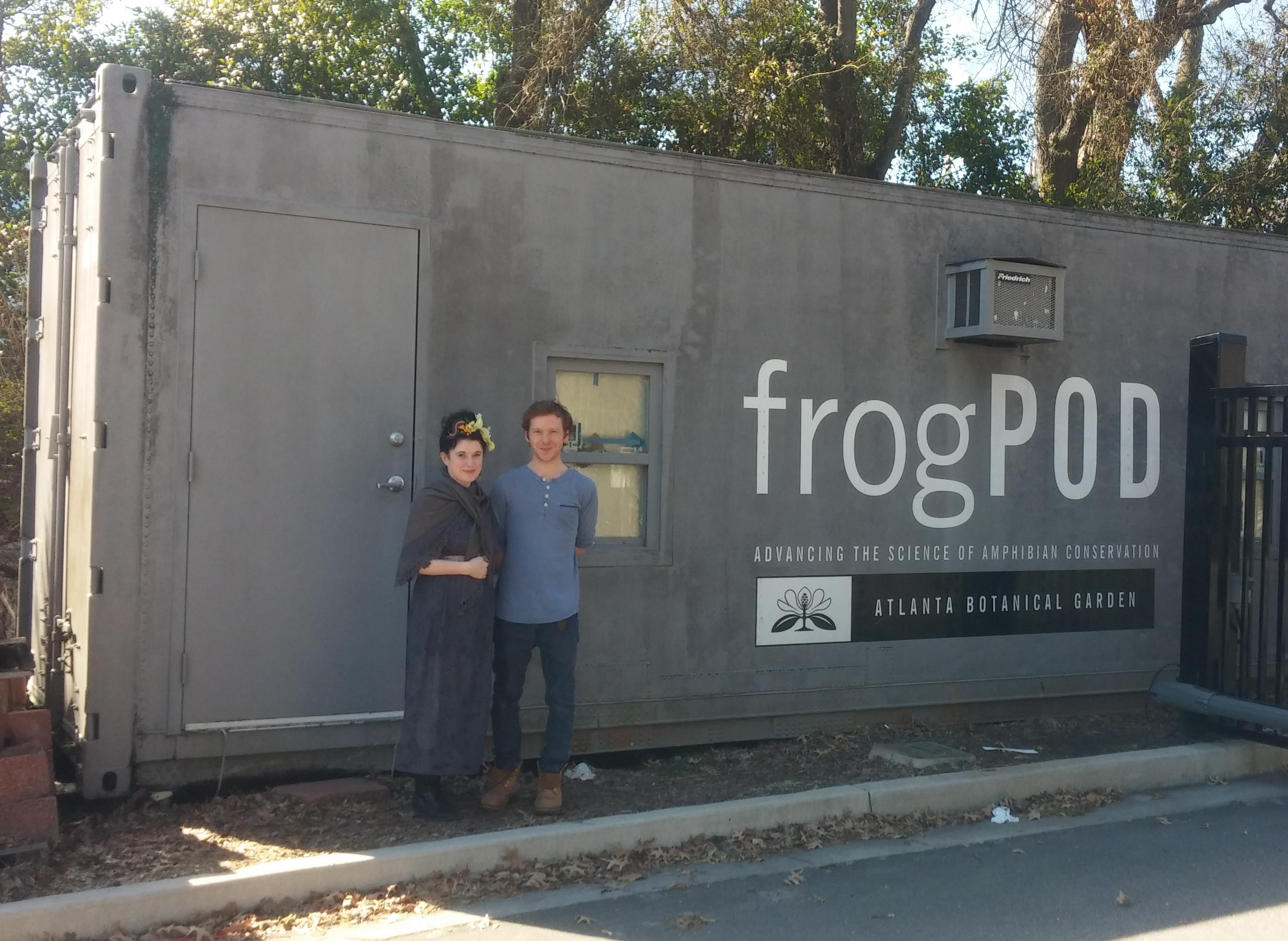 Me Outside Frog Pod